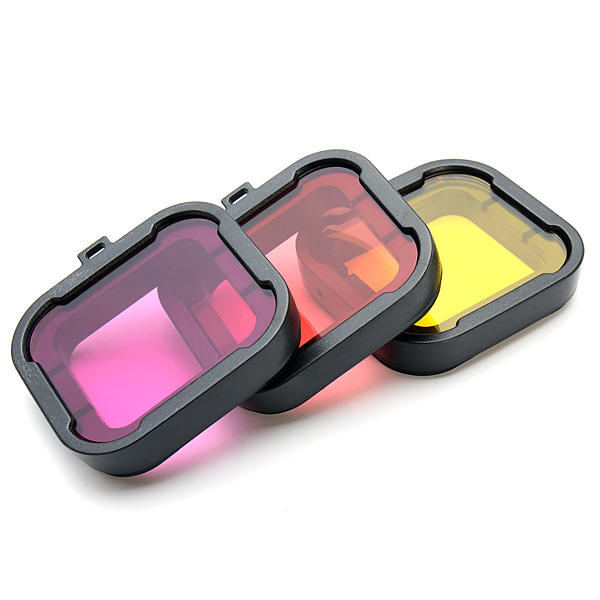 Polarizer 3 Colors Under Water Diving UV Lens Filter For Gopro Hero 3+