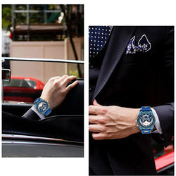 BIDEN 0117 Waterproof Work Little Dials Men Watches Multifunctional Business Style Quartz Watch