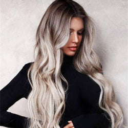 Women Wig Full Wavy Hair Extensions Heat Resistant Synthetic  7