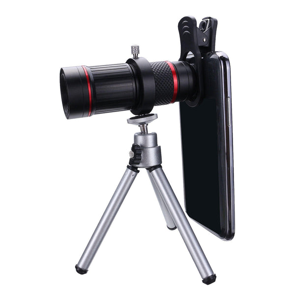 Bakeey 18X Telescope Zoom Camera Lens Phone Clip+Tripod for Smartphone