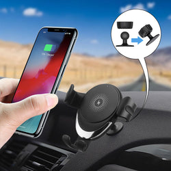 FDGAO Car Wireless Charger Holder 10W Fast Charging Outlet Stand Universal Phone Holder For iPhone XS 11Pro Xiaomi Mi10 Redmi Note 9S