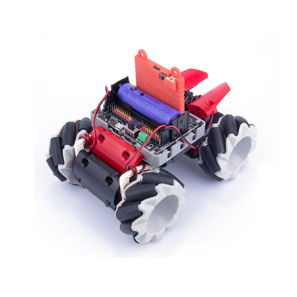 Kittenbot Microbit DIY 4WD Programmble APP/Stick Control Smart RC Robot Car With Omni Wheels