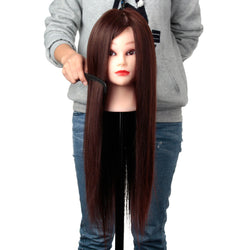 24 Inch Blonde Training Hairdressing Cut Mannequin Head with Clamp