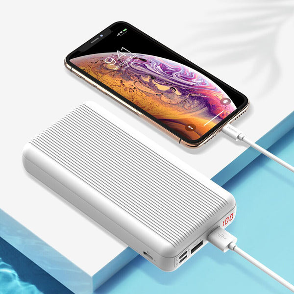 YOOBAO P20D 20000mAh Power Bank Dual USB Output Multi Input LED Display Fast Charging For iPhone XS 11Pro Xiaomi MI10 Redmi Note 9S Oneplus 8Pro