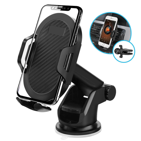 ELEGIANT 2 In 1 Car Air Vent Dashboard Suction Cup Car Phone Holder For 4.0 Inch - 6.5 Inch Smart Phone iPhone XS Max Samsung Galaxy S10 Plus