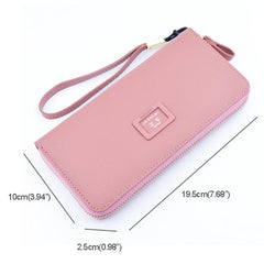 Women Long Section Zipper Multi-function High-capacity Card Bag Purse Clutch Bag Wallets