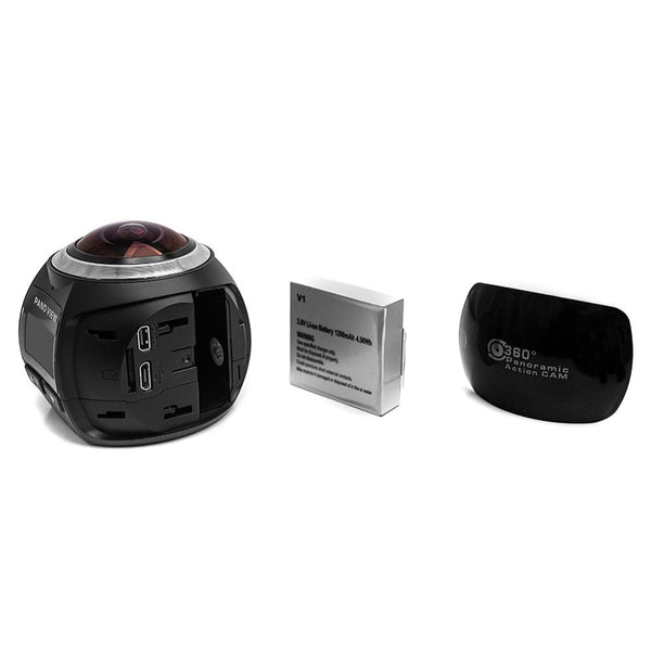 360 Mini WiFi Panoramic Video Camera 2448P 30fps 16MP Photo 3D Sports DV VR Video And Image ABS