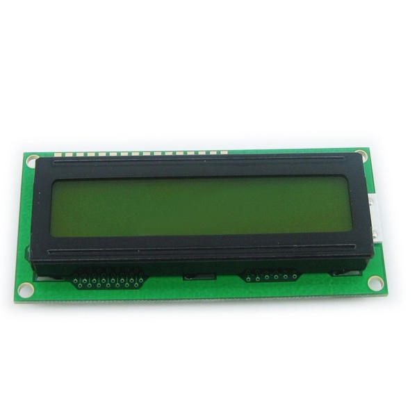 1Pc 1602 Character LCD Display Module Yellow Backlight