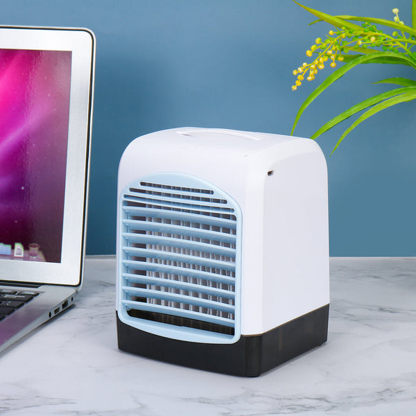 Portable USB Mini Cooler Cooling Fan Aromatherapy Purify Air Timing Conditioner