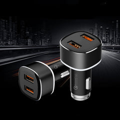USMEI 3A Dual USB Ports QC3.0 Fast Charging Car Charger For iPhone X XS Max HUAWEI Xiaomi Mi9 Oneplus 7 S10