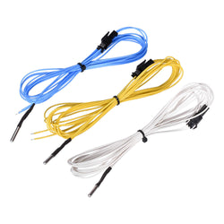 Blue/Yellow/White 2M NTC 3950 100K Ohm High Temperature Resistance Thermistor Sensor for 3D Printer V6 Heat Block Hotend