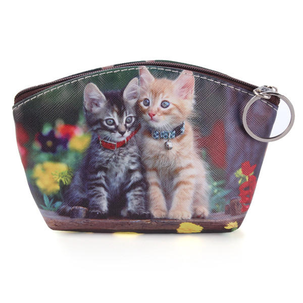 Cute Cat  Dog Coin Purse Wallet