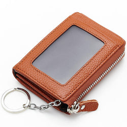 Women Genuine Leather Portable Retro Key Bag Coins Bags Card Holder Wallet