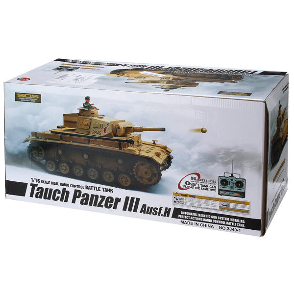 Heng Long 5.3 Plastic Version 1/16 2.4G 3849-1 Tauch Panzer III Ausf.H RC Battle Tank