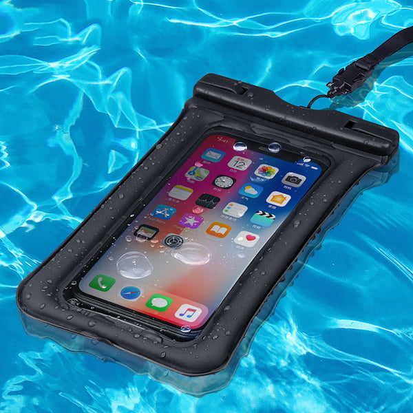 KUULAA IPX8 Waterproof Phone Pouch Air Cushion Anti-explosion Screen Touch Underwater Swimming Diving Phone Bag for iPhone Huawei Xiaomi below 6 inch