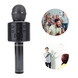 Bakeey WS858 bluetooth Micrphone Wireless Microphone Handheld Karaoke Voice Record TF Card Portable Home Outdoors Music Microphone Speaker