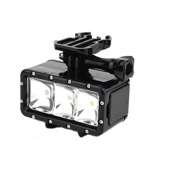 30m Under Water Waterproof LED Dive Light With AHDBT-201 Battery For Xiaomi Yi GoPro SJ4000