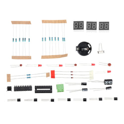 DIY 6 Digital LED Electronic DIY Clock Kit Electronic Component Parts 9V-12V AT89C2051