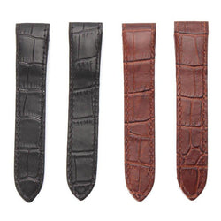 20mm Soft Leather Watch Band Strap With Buckle Pin For CAR TIER SANTOS 100