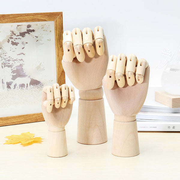 Wooden Artist Articulated Left Hand Art Model SKETCH Flexible Decoration