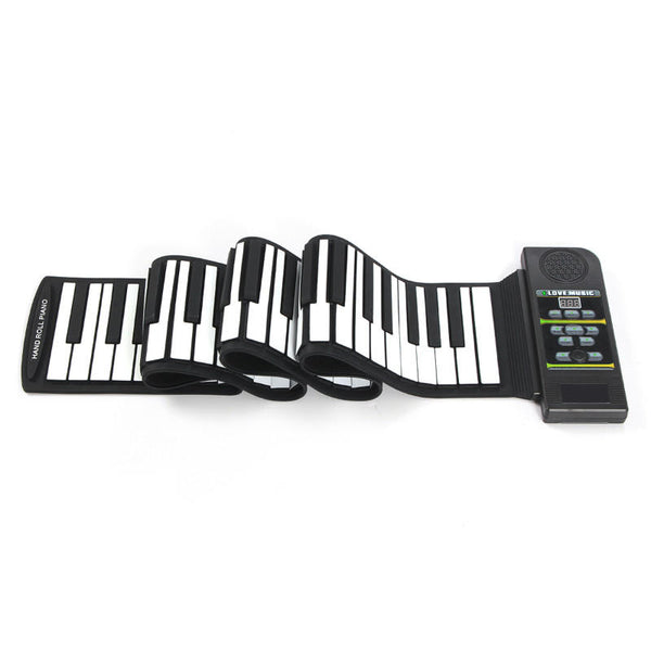 88 Key Roll Up Digital Tone Electronic Soft Keyboard Piano MIDI Sustain Pedal
