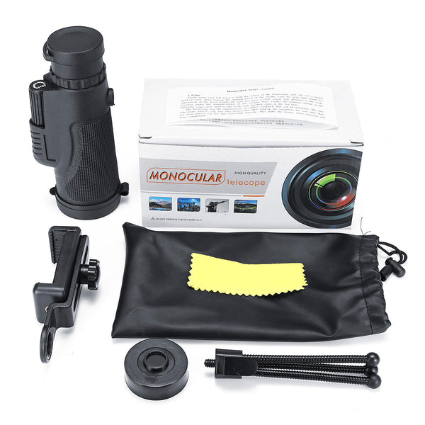 40x60 HD BAK4 Telescope Monocular Camera Lens + Phone Clip+Triangular Bracket