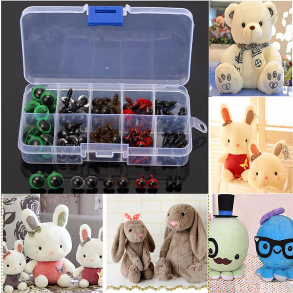 100pcs 6-12mm Plastic Safety Fine Eyes For Teddy Bear Animal Puppet Crafts Doll