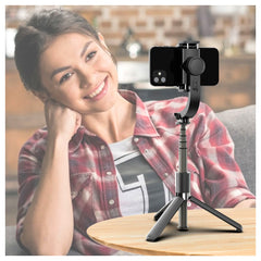 L08 3-in-1 Gimbal Stabilizer Selfie Stick Tripod Wireless Aluminum Alloy Foldable Selfie for Vlog Smartphone