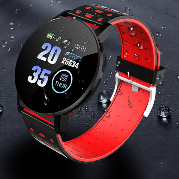 XANES 119Plus 1.3in Color Touch Screen Heart Rate Monitor Smart Watch IP67 Waterproof Remote Camera Multiple Sports Modes Bracelet Fitness Tracker