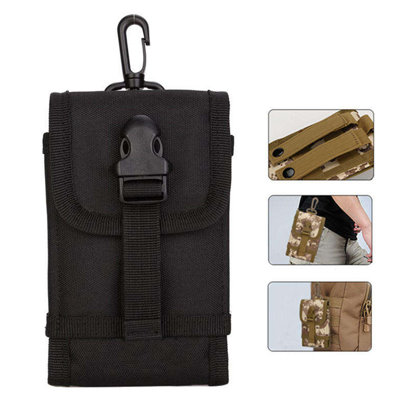 Outdoor Portable Tactical Storage Waist Bag for iPhone Xiaomi Mobile Phone Under 5.5 Inches