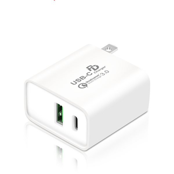 QGeeM PD QC3.0+ 3A USB Charger USB-C PD USB-A Fast Charger for iPhone 11 Pro 2020 for Samsung Galaxy S20 Xiaomi Huawei For iPad Pro 2020