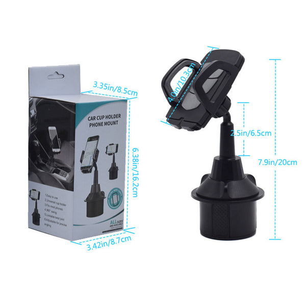 Universal 360 Rotation Car Phone Mount Gooseneck Cup Holder for 5-9.5cm Width Cell Phone for Xiaomi Redmi 9A Poco F2 Pro