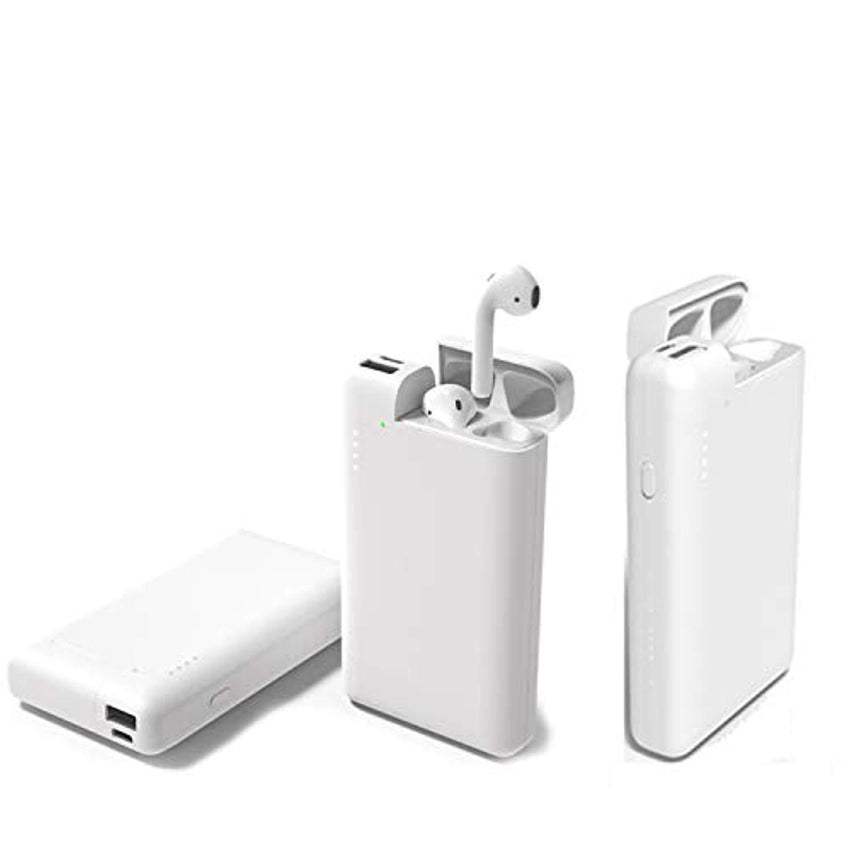 New High Quality NiSotieb Portable Phone Charger 10000mAh USB C Power Bank with Charging Box Compatible with Phone X/XR/XS/XS Max/Air-pods/Galaxy S8/S7/S7 Edge (White) USA Imported Product - EY Shopping