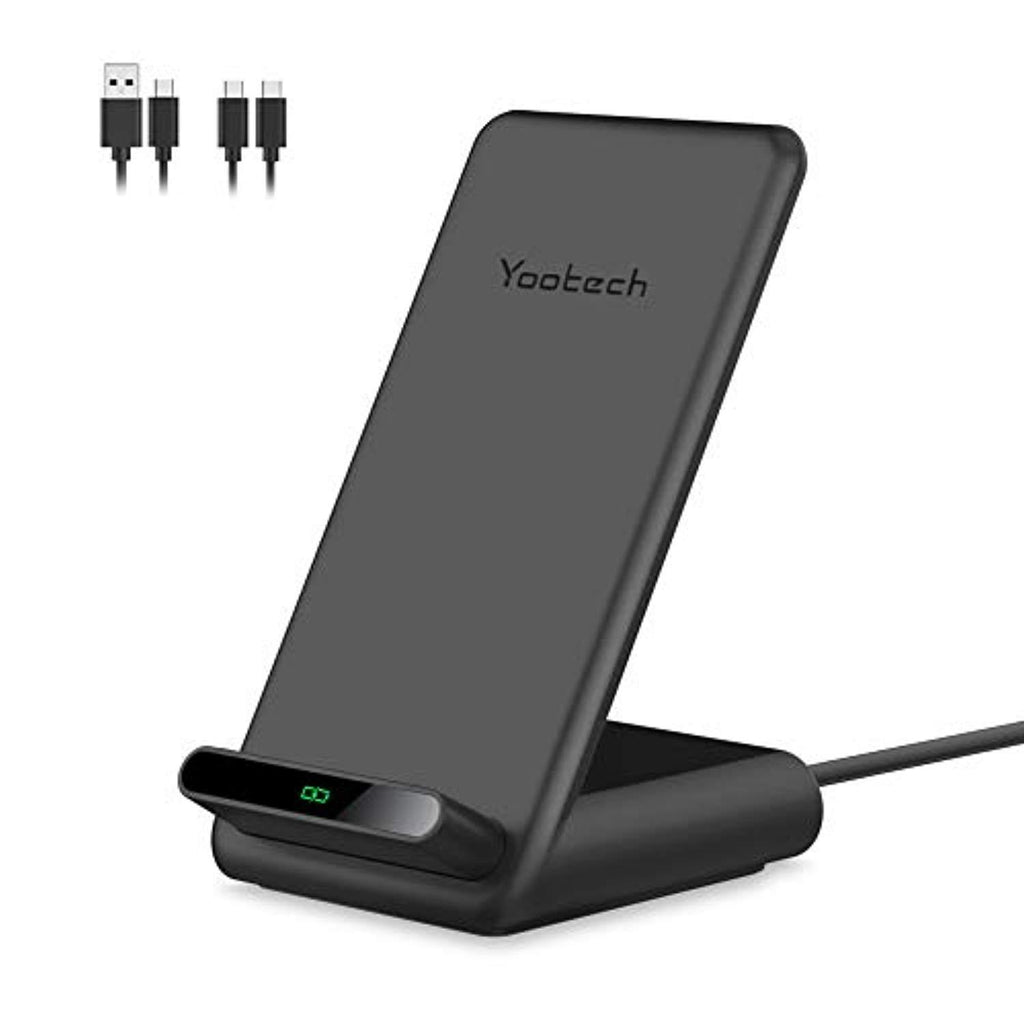 New High Quality Yootech 7.5W/10W/15W Fast Wireless Charger,7.5W Wireless Charging Stand Compatible with iPhone 11/11 Pro/11 Pro Max/XS,15W for LG V30/V35/G8,10W for Galaxy S20/S10,Pixel 3/4XL(with 2 USB C Cable) USA Imported Product - EY Shopping