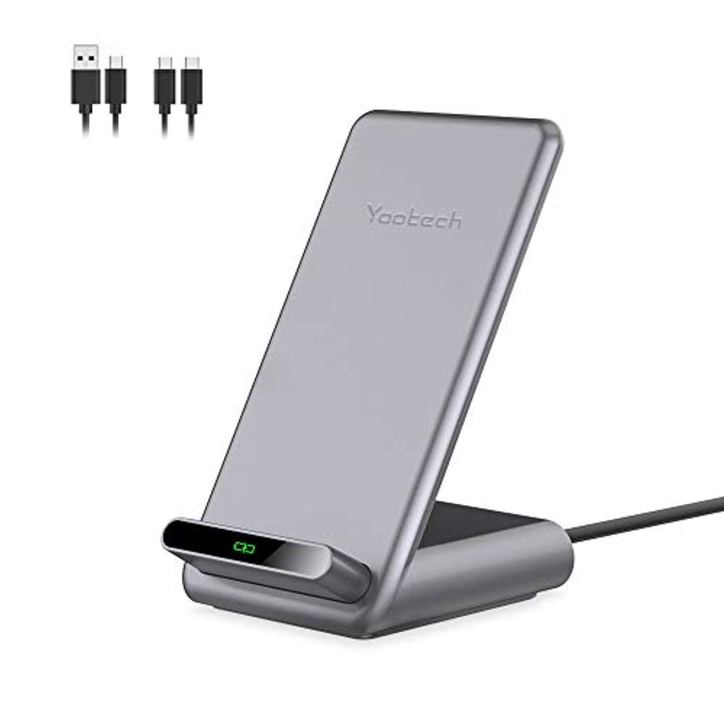 High Quality Yootech 7.5W/10W/15W Fast Wireless Charger,7.5W Wireless Charging Stand Compatible with iPhone 11/11 Pro/11 Pro Max/XS,15W for LG V30/V35/G8,10W for Galaxy S20/S10,Pixel 3/4XL(with 2 USB C Cable) USA Imported Product - EY Shopping