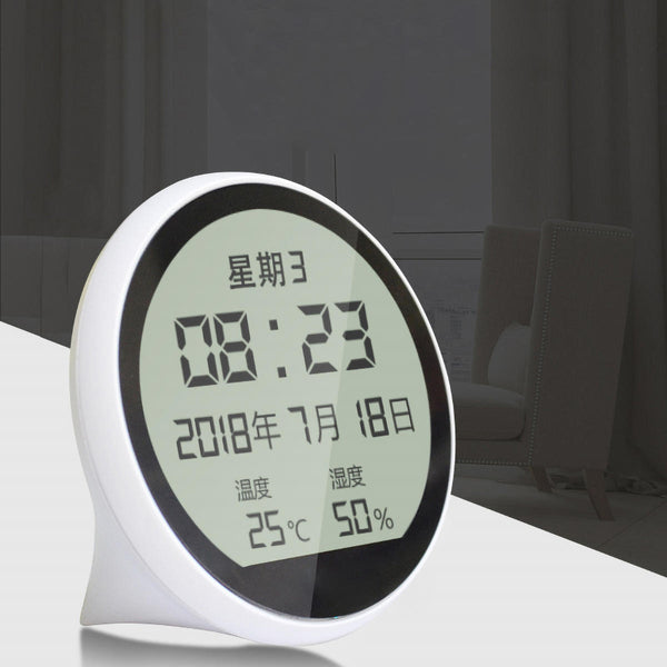 Portable Digital High Precision Electronic Thermometer Hygrometer Time display