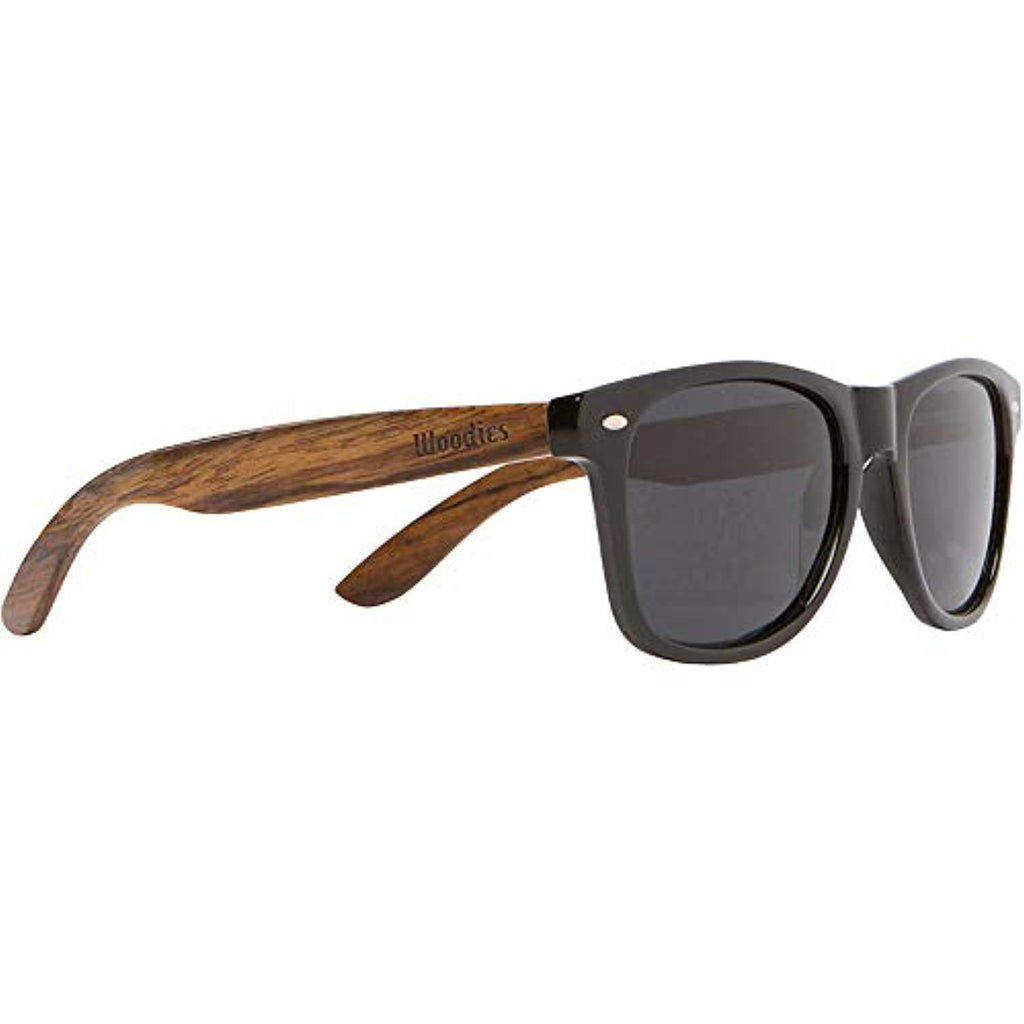 Best wooden sunglasses 2020,Woodies Wooden Sunglasses with Black Polarized Lens in Walnut Wood plastic frame anti-reflective lens USA Imported Product - EY Shopping