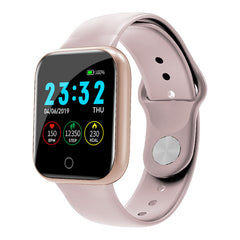 Bakeey I5 Continuous Heart Rate SpO2 Monitor Weather Display Full Metal Body Smart Watch
