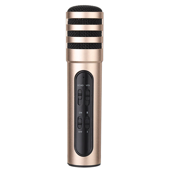 Dual Mobile Phone Computer Anchor Live Microphone Portable Mini Recording Capacitor Built-In Sound Card Karaoke Mic