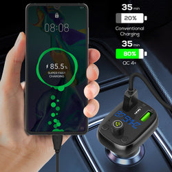 LDNIO Car bluetooth 5.0 FM Transmitter QC4.0+ PD3.0 USB C Car Charger Fast Charging For iPhone XS 11Pro Xiaomi MI10 Redmi Note9S