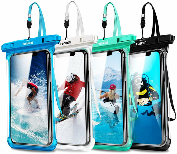 FONKEN IPX8 Waterproof Full View Touch Screen Phone Waterproof Bag Underwater Swimming Diving Phone Pouch for Mobile Phone below 6.5 inch for iPhone 11 Pro For Iphone Xiaopmi