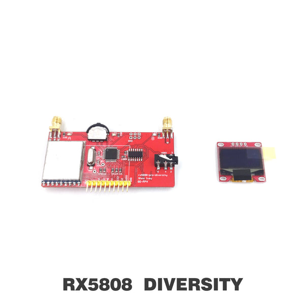 GE-FPV RX5808 Pro Diversity Receiver 5.8Ghz 40CH DIY FPV RX Module with OLED Display For Fatshark Goggles