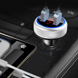 ACCNIC 3.2A Dual USB LED Display Wireless Handsfree Car Kit MP3 Player FM Transmitter Fast Charging USB Car Charger For iPhone 11 Pro Huawei P30 Mate 30 S10+