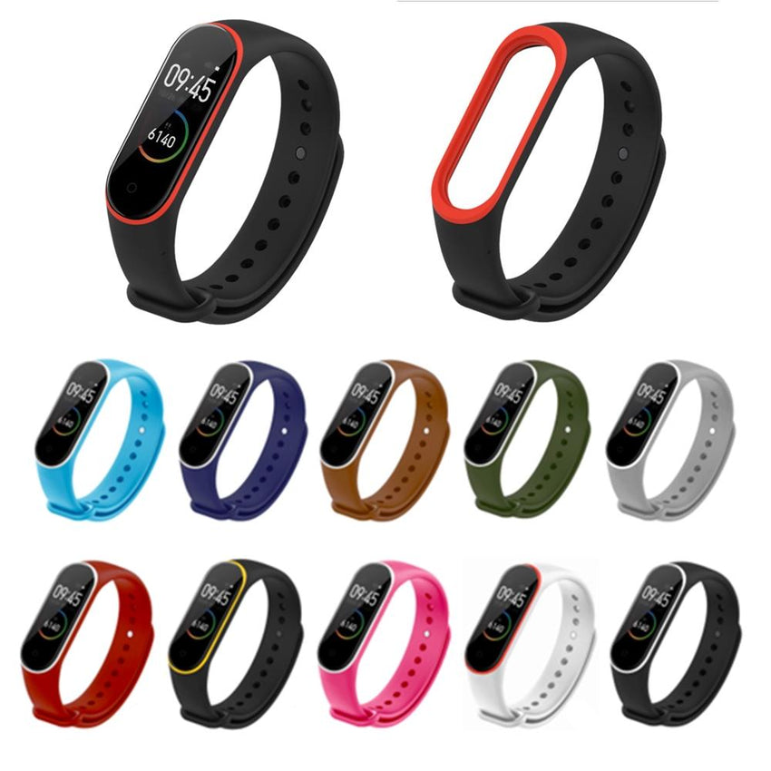 Dual Colorful TPU Watch Band Watch Strap Replacement for Xiaomi Miband 4