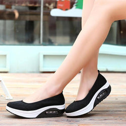 Mesh Rocker Sole Shoes Health Shoes Slip On Outdoor Athletic Sport Shoes - EY Shopping