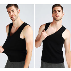 Mens Ultra Warm Thermal Vest Sleeveless Shirt Sleeveless Waistcoat Tank Top