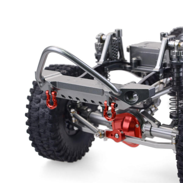 SCX10 1/10 4WD CNC All Metal Carbon Fiber RC Car Frame+540 Motor+60A Waterproof ESC+M1500 Servo Straight Bridge Version