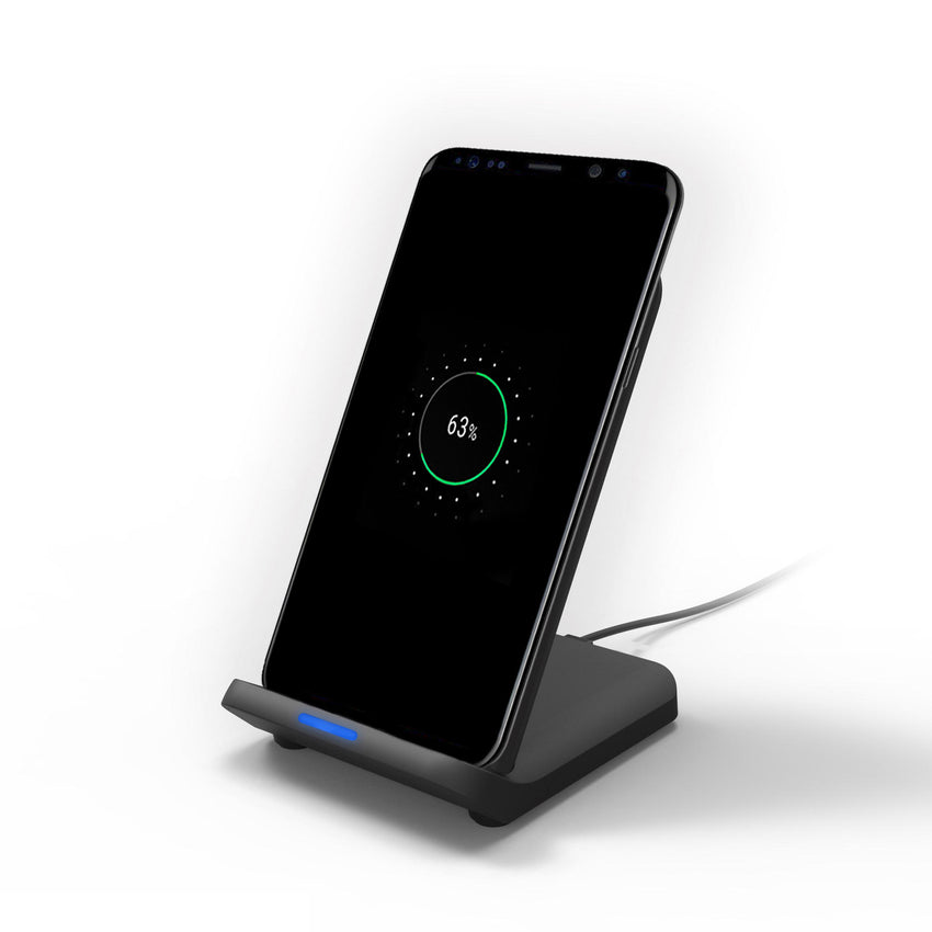 Bakeey K9 Qi 15W Dual Coil Fast Charging Wireless Dock Charger Pad Station for Samsung S10+ Xiaomi 9T 9Pro HUAWEI P30Pro