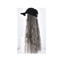 Woman Girl Duck Tongue Cap Wig Hat Light Long Halloween Party Curly Club