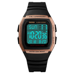 SKMEI 1278 Outdoor 50M Waterproof LED Watch Men Date Luminous Display Countdown Sport Digital Watch